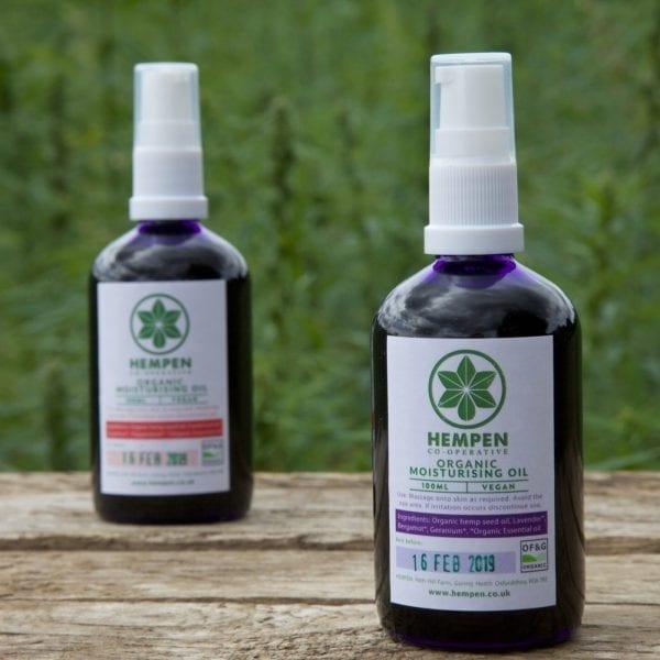 Organic Moisturising Hemp Oils by Hempen