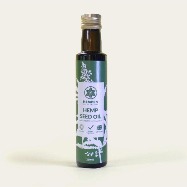 Hemp Seed Oil Organic - Extra Virgin Raw