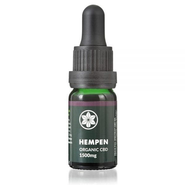 Hempen Organic CBD Oil 1500mg Full Spectrum in 10ml dropper bottle