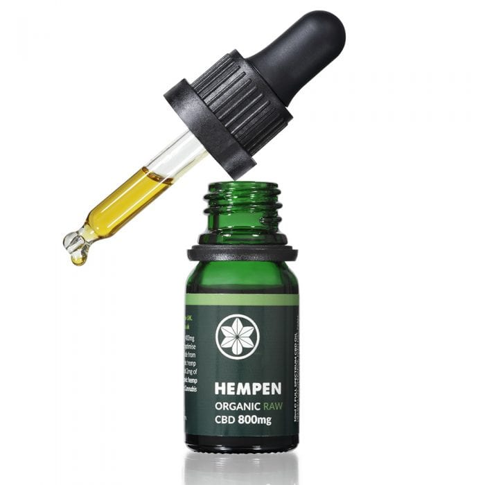Hempen Organic RAW CBD Oil 800mg dropper