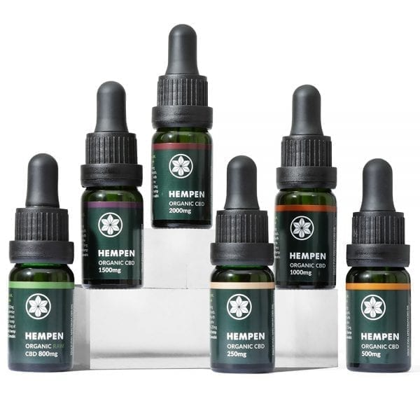 Hempen Organic CBD Range from 250mg to 2000mg