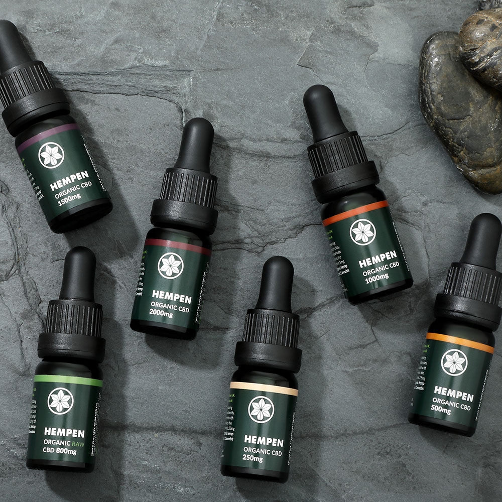 Hempen Organic CBD Range from above