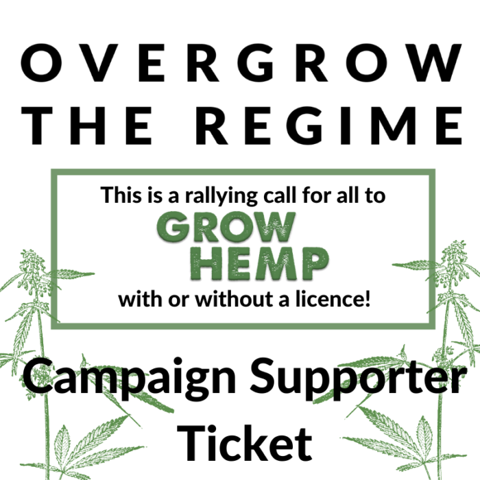 Overgrow The Regime Campaign Supporter Ticket